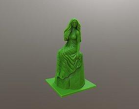 3D printable model Wooden Mermaid Girl