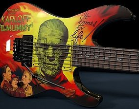 Kirk Hammett ESP KH-3 Karloff Mummy Guitar 3D model