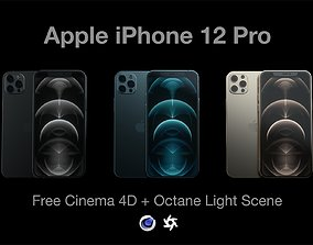 iPhone 12 Pro - Octane Scene 3D model telephone