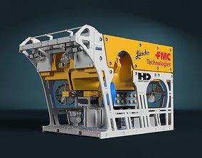 animated FMC HD ROV 3D model