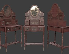 Ancient Chinese dressing table 3D asset