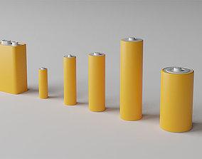 Batterie Set - 6 Batteries Electronica Equipment 3D asset