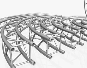 Circle Square Truss Modular Collection - 10 PCS 3D