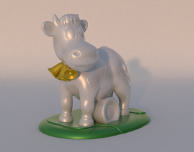 3D printable model ANIMATED COW READY TO PRINT