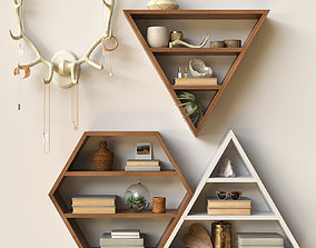 3D model Decorative shelves