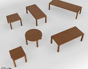 Kos Table collection by Tribu 3D model