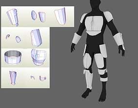 The Mandalorian 2019 armor Pepakura PDO 3D printable model