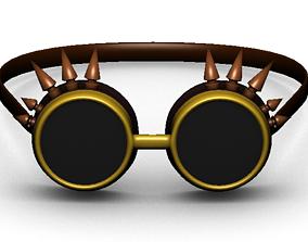 3D asset Steampunk sunglasses 2