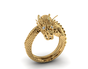 3D printable model dragon Ring 2