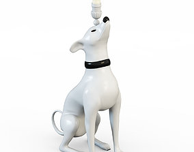 3D model Dog with candles