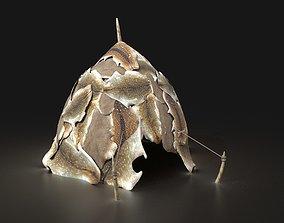 3D asset Orcish Primal Shelter Tent Camp Hut House 2