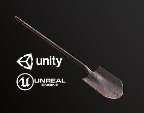 Rusty Shovel - PBR Game Ready 3D asset game-ready