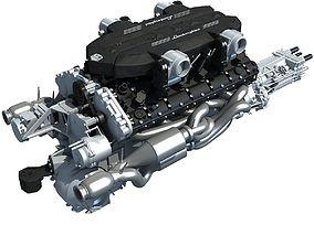 3D model V12 Engine Lamborghini