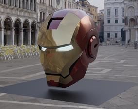 Iron Man helmet 3D asset VR / AR ready avenger
