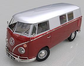 VOLKSWAGEN TRANSPORTER SPLITSCREEN CAMPER VAN - 3D model