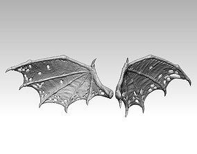3D printable model demon wing