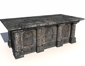 3D asset Old stone altar 2