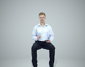 Blonde Business Man Sitting BMan0304-HD2-O02P01-S 3D model