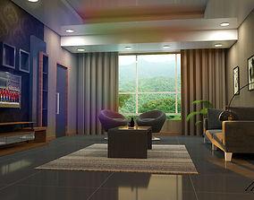 simple living room free 3D