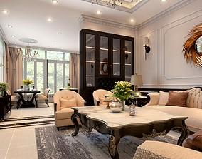 Modern classik house design 3D