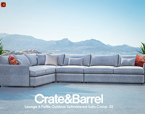 3D Lounge II Petite Outdoor Upholstered Sofa Composition