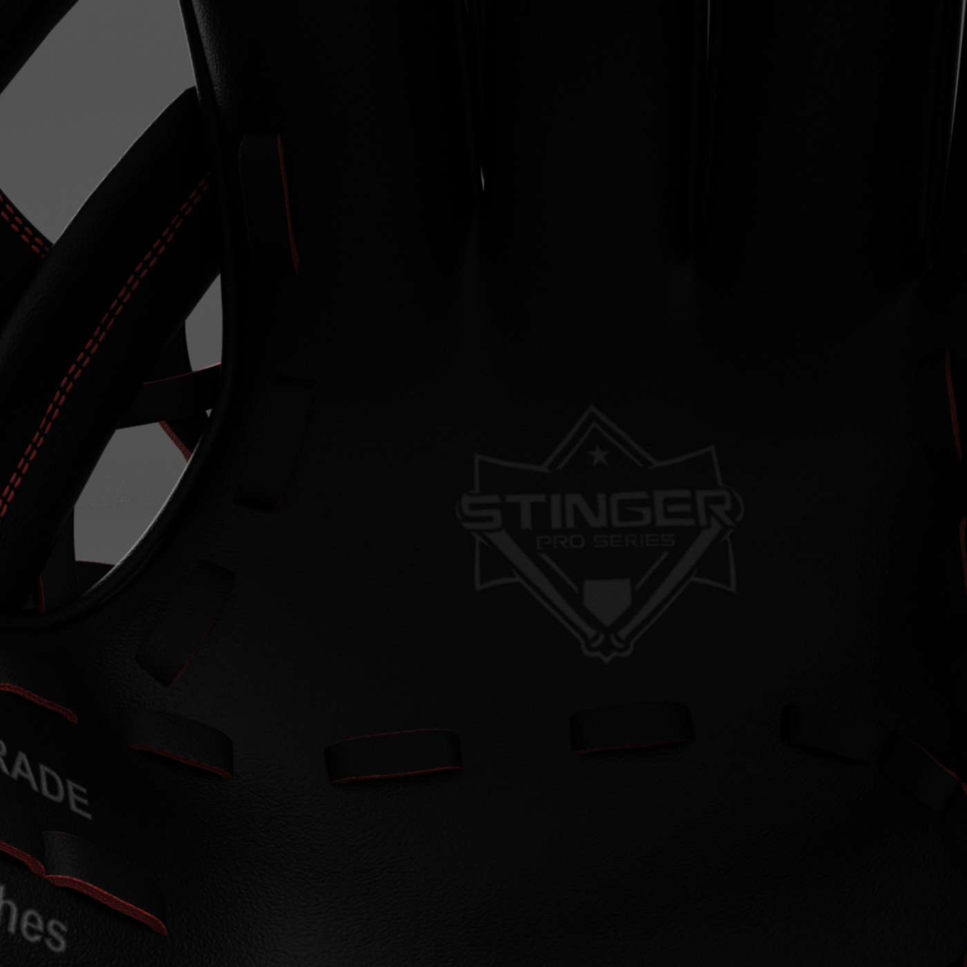 Baseball Glove Black Render