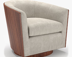 West Elm Luther Swivel Chair 3D
