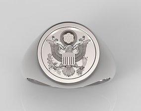 3D printable model USA Signet Ring - Signet Ring - 1