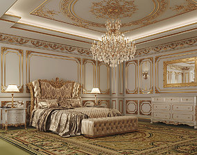 rendering 3D model Master Bedroom Classic LOUIS XIV Style