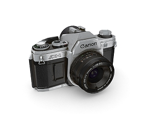 Canon AE-1 camera 3D model