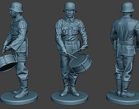 3D printable model German musician soldier ww2 Stand drum