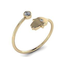 3D printable model Jewelry Hamsah ring 04