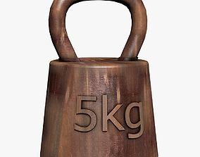 Rusty 5 Kilos Weight 3D model