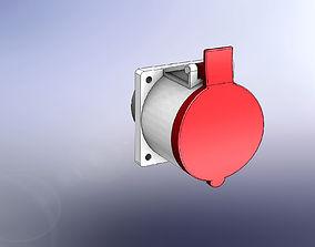 Plug 32A 3P N G IE 3D model