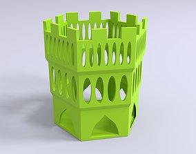 Castle themed pen holder 3D print model