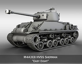 M4A3E8 - Sherman - Easy Eight 3D