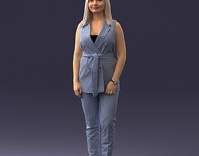 European business woman 1112 3D print ready