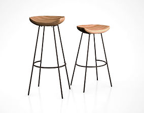 Alden Bar and Counter Stools by West Elm 3D model