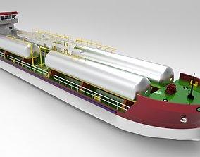 3D asset LPG Ship