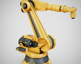 3D model Industrial Robot Arm - Generic 01 Clean
