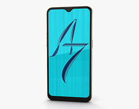 Oppo A7 Glaring Gold 3D