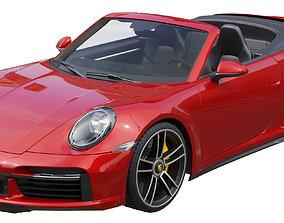 Porsche 911 Turbo S Cabriolet 2021 3D model