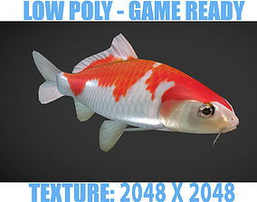3D asset Koi fish