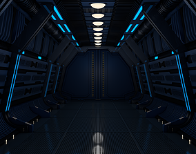 Sci Fi Corridor 3D science