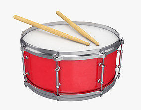 3D model sound Snare drum
