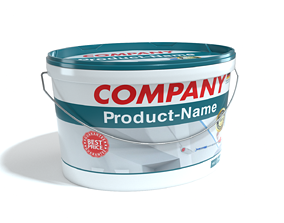 3D model High quality paint bucket with customizable label