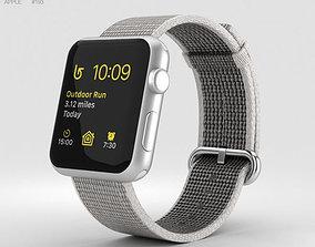 Apple Watch Series 2 42mm Silver Aluminum Case Pearl 3D 1