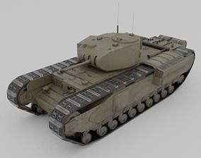 Churchill MK 2 Infantry Support Heavy Tank 3D model
