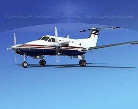 Beechcraft B200 GT King Air V05 3D model