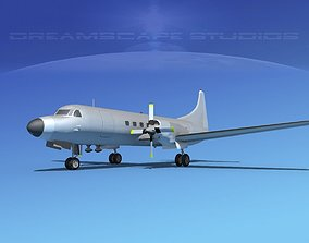 Convair CV-580 Bare Metal 3D model